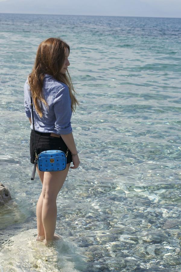 blue MCM bag4